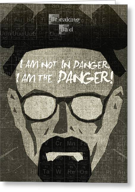 Alternative Home Decor Greeting Cards - Breaking Bad Walter White Poster Greeting Card by Albert Lewis