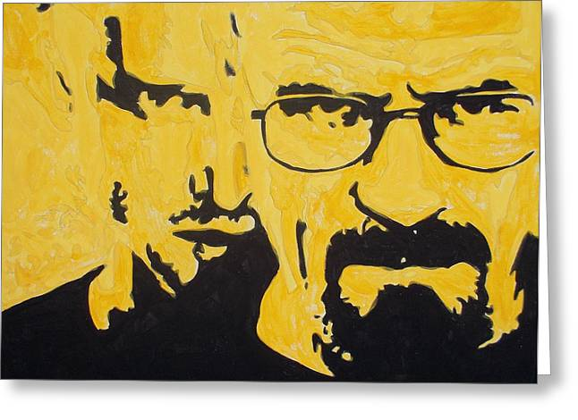 Best Sellers -  - Bad Drawing Greeting Cards - Breaking Bad Yellow Greeting Card by Marisela Mungia