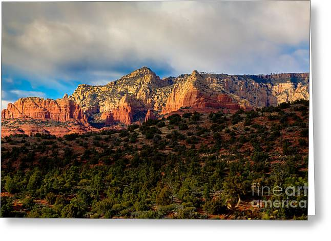Montezumas Well Greeting Cards - Breaking Dawn Greeting Card by Jon Burch Photography