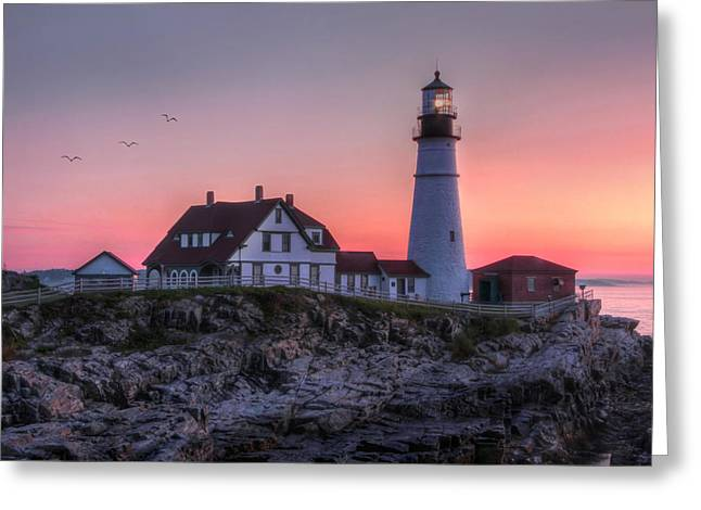 Hdr Landscape Greeting Cards - Breaking Dawn Greeting Card by Lori Deiter