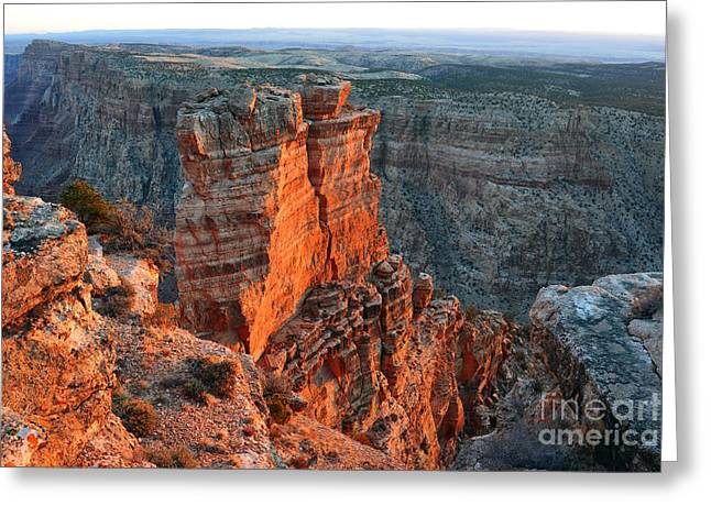 National Parks Greeting Cards - Breaking Dawn on Spires in Grand Canyon National Park Greeting Card by Shawn O