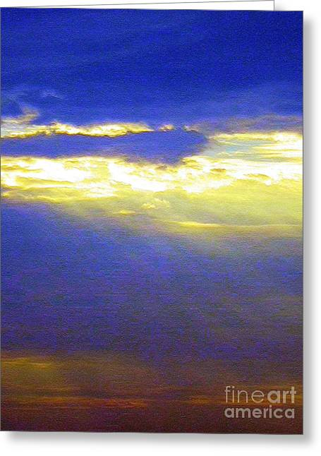 Abstract Digital Digital Greeting Cards - Breaking Day Greeting Card by Robyn King