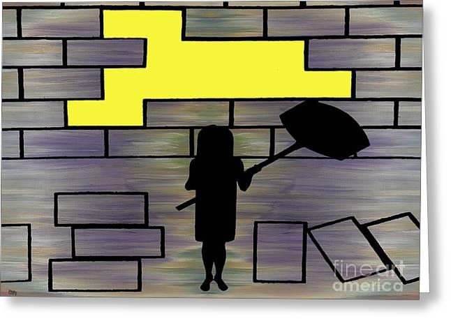 Breaking Down Barriers Greeting Card by Patrick J Murphy