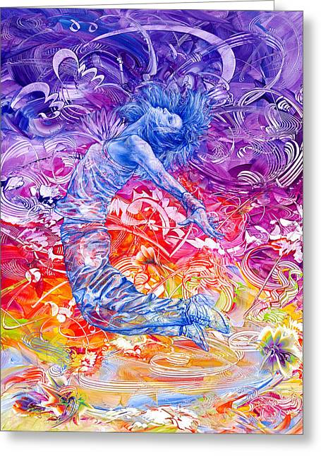 Recently Sold -  - Dancing Girl Greeting Cards - Breaking Free II Greeting Card by Susan Card