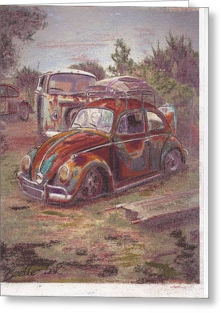 Vw Beetle Pastels Greeting Cards - Breaking Heart Greeting Card by Sharon Poulton