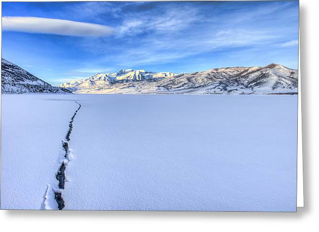 Cracked Photographs Greeting Cards - Breaking Ice Greeting Card by Chad Dutson