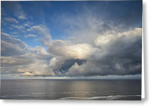 Clouds Posters Greeting Cards - Breaking Storm Clouds Greeting Card by Andrew Soundarajan