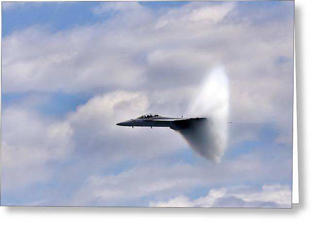 Military Airplane Greeting Cards - Breaking Through Greeting Card by Adam Romanowicz