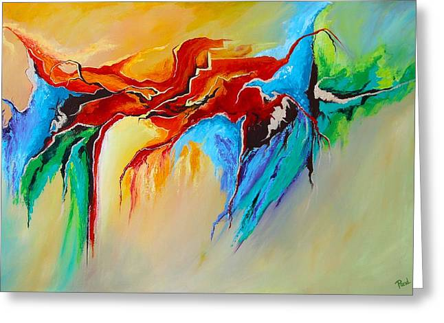 Abstract Style Greeting Cards - Breaking Through Greeting Card by Parul Mehta