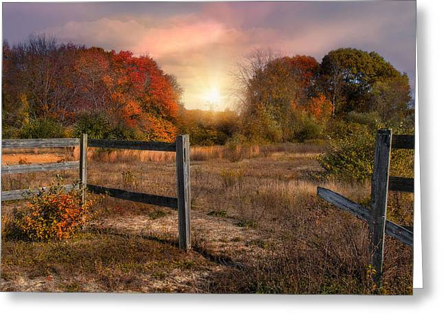 Fencing Greeting Cards - Breaking Through Greeting Card by Robin-lee Vieira