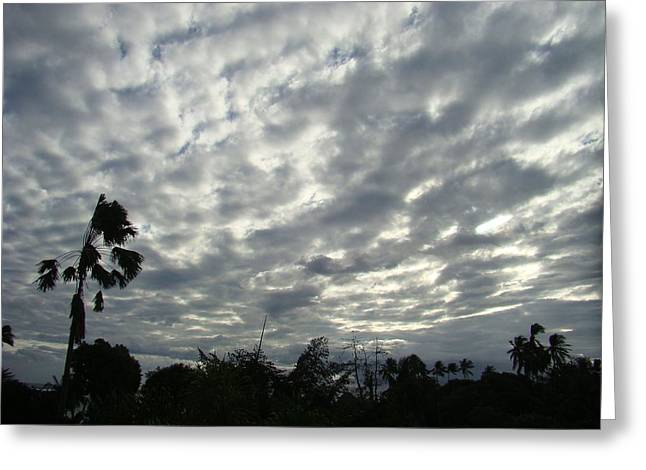 Sun Breaking Through Clouds Photographs Greeting Cards - Breaking Through Greeting Card by Zinvolle Art