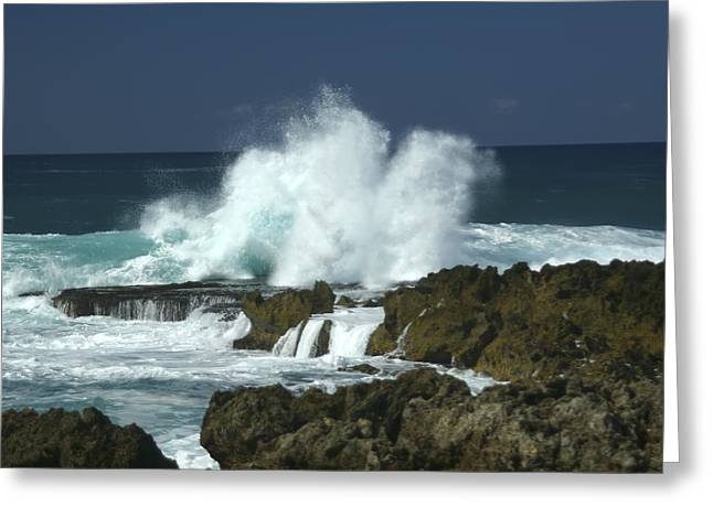 Stream Greeting Cards - Breaking Waves Greeting Card by Andy Feero