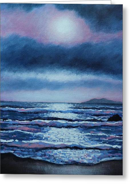 Sea View Greeting Cards - Breaking Waves Coumeenole Beach  Greeting Card by John  Nolan