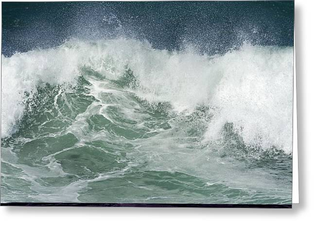 Northern Africa Greeting Cards - Breaking waves Greeting Card by Science Photo Library