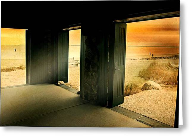 On The Beach Greeting Cards - Breakthrough Greeting Card by Diana Angstadt