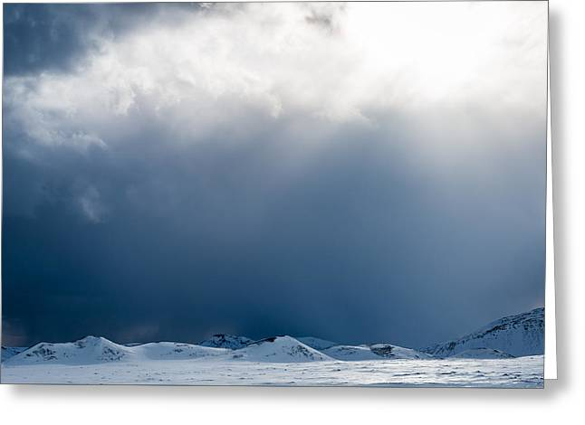 Weathered Greeting Cards - Breakthrough - Iceland Snow Photograph by Duane Miller Greeting Card by Duane Miller