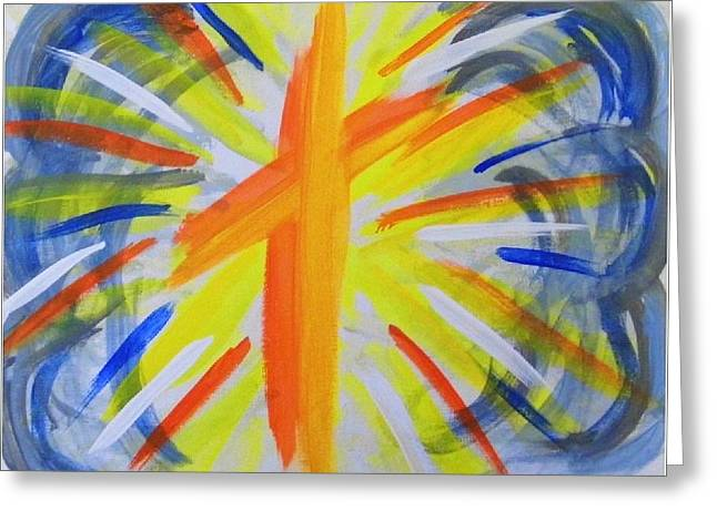Sun Breakthrough Greeting Cards - Breakthrough Greeting Card by Margaret Grubic