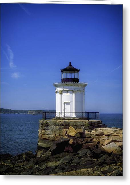 Maine Lighthouses Greeting Cards - Breakwater Light - Portland Maine Greeting Card by Mountain Dreams