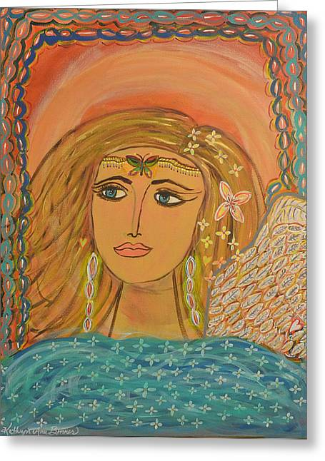Angels Breath Greeting Cards - Breath of Life Rivers of Love Greeting Card by Kathryn Bonner