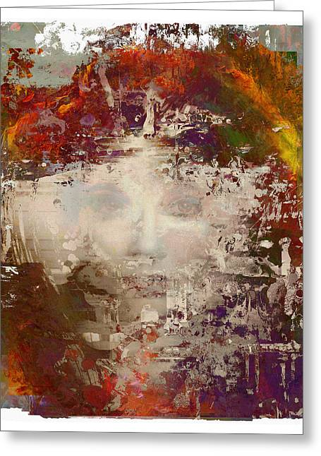 Fish Framed Prints Mixed Media Greeting Cards - Breathing - Kate Bush Portrait Greeting Card by Czar Catstick