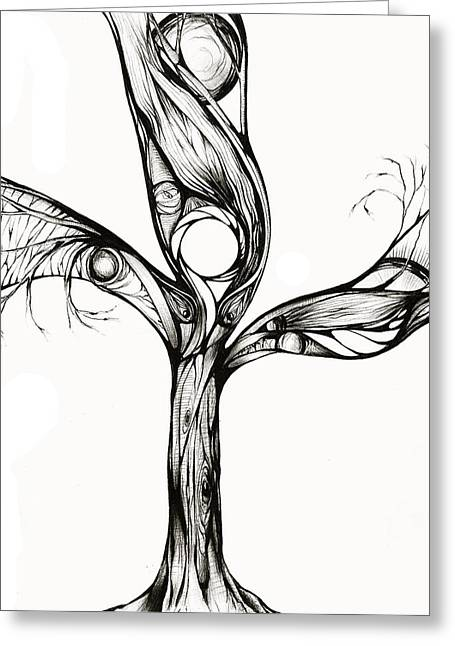 Andrea Carroll Greeting Cards - Breathing Tree III Greeting Card by Andrea Carroll
