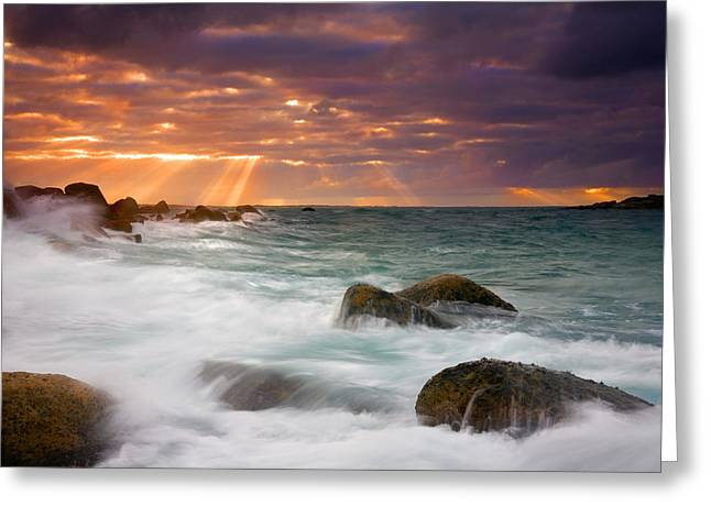 Ray Greeting Cards - Breathtaking Greeting Card by Mike  Dawson