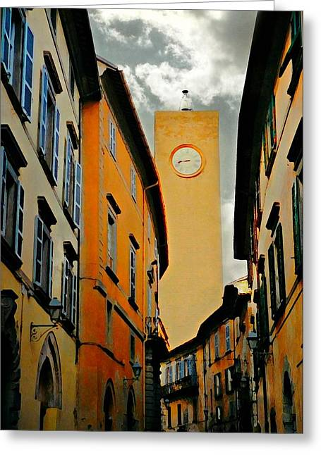 Italian Landscapes Greeting Cards - Breathtaking Orvieto Greeting Card by Diana Angstadt