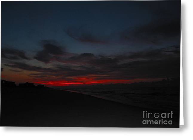 Sunset Posters Greeting Cards - Breathtaking Sunset Greeting Card by Helene Guertin