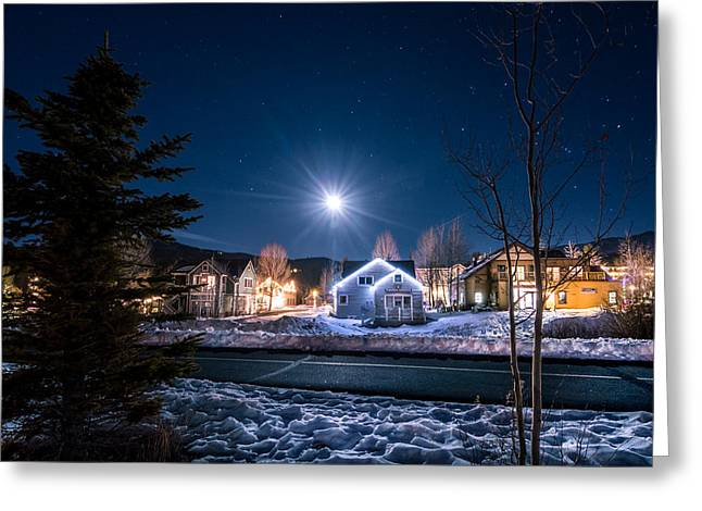 Scenic Greeting Cards - Breck Moonrise Greeting Card by Michael J Bauer