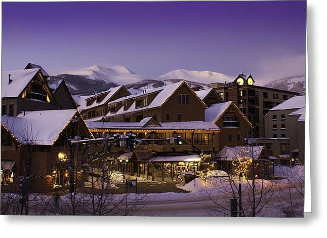 Hiking Greeting Cards - Breckenridge Colorado Resort Greeting Card by Michael J Bauer