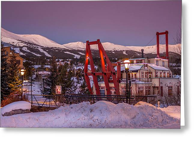 Breckenridge Dredge Greeting Card by Michael J Bauer