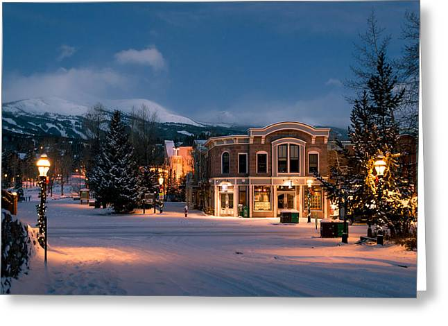 Path Greeting Cards - Breckenridge Early Morning Greeting Card by Michael J Bauer