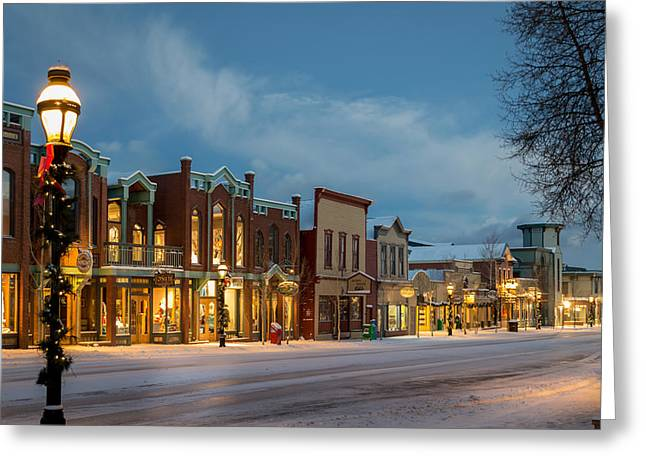 Outdoors Greeting Cards - Breckenridge Main Street Greeting Card by Michael J Bauer