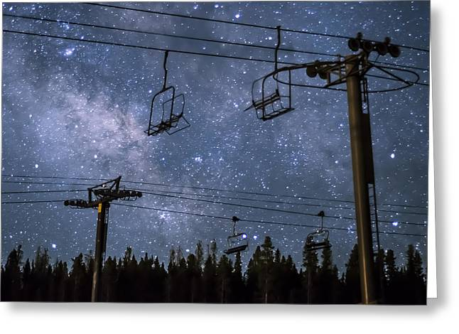 Hike Greeting Cards - Breckenridge Milky Way Greeting Card by Michael J Bauer