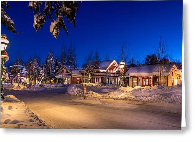 Autumn Greeting Cards - Breckenridge Winter Morning Greeting Card by Michael J Bauer