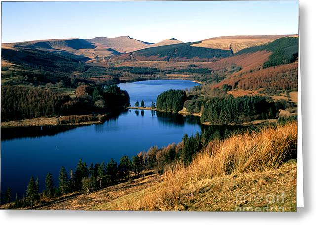 Welsh Reservoirs Greeting Cards - Brecon Beacons. Greeting Card by Graham Bell