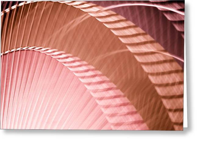 Rotate Greeting Cards - Breeze I - Plum Burgundy Rust Abstract Greeting Card by Natalie Kinnear