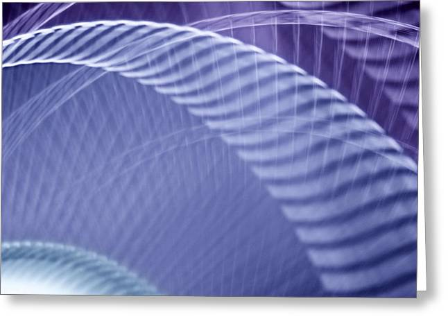 Rotate Greeting Cards - Breeze V - Blue Purple Abstract Greeting Card by Natalie Kinnear