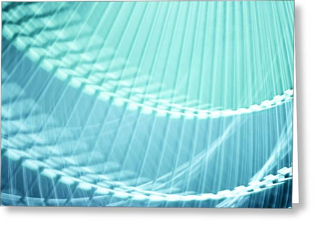 Rotate Greeting Cards - Breeze VI - Turquoise Abstract Greeting Card by Natalie Kinnear