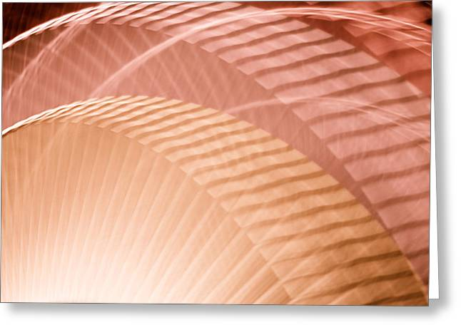 Rotate Greeting Cards - Breeze VIII - Tan Plum Abstract Greeting Card by Natalie Kinnear