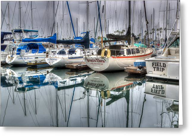 Docked Boat Greeting Cards - Breezn Thru Greeting Card by Heidi Smith