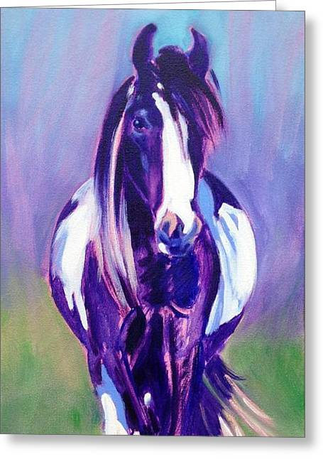 Breezy Greeting Cards - Breezy       Gypsy Vanner Mare Greeting Card by Sylvina Rollins