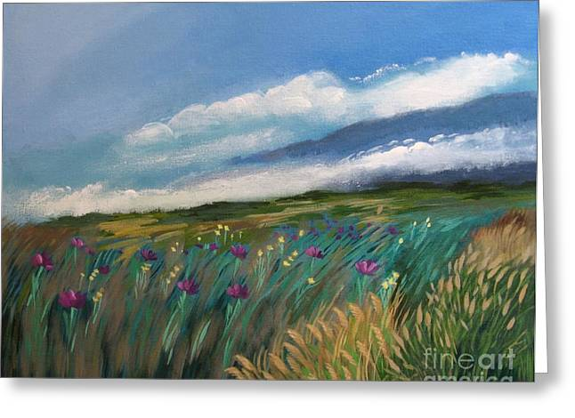 Breezy Greeting Cards - Breezy Day at Mauna Kea Greeting Card by J Linder