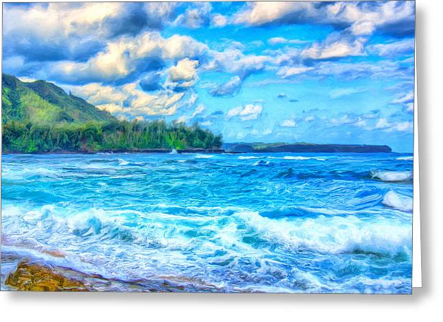 Breezy Greeting Cards - Breezy Hawaii Morning Greeting Card by Dominic Piperata