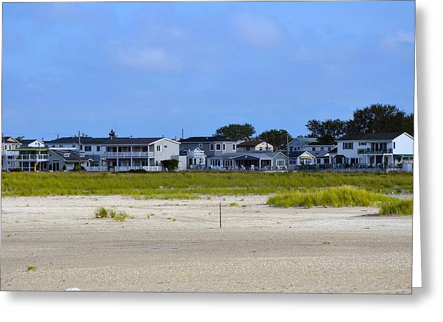 Breezy Greeting Cards - Breezy Point As Seen from Beach August 2012 Greeting Card by Maureen E Ritter