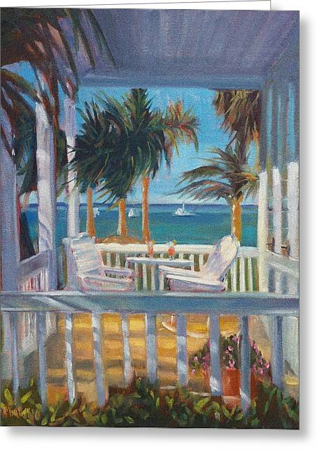 Breezy Porch Greeting Card by Linda S Marino