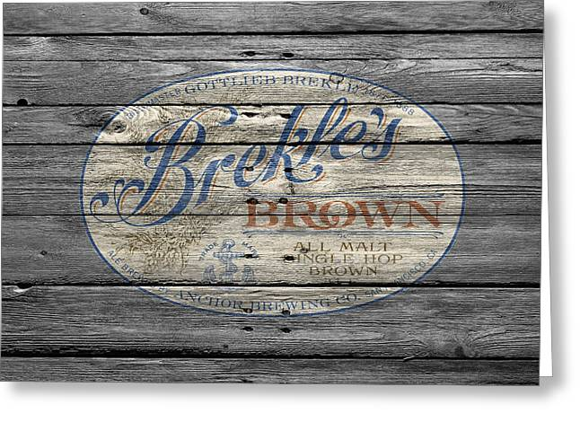 Saloons Greeting Cards - Brekles Brown Greeting Card by Joe Hamilton