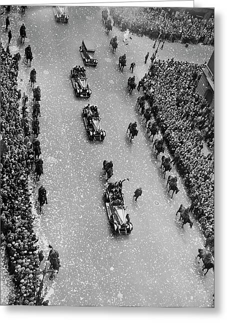 Bremen Flyers Parade Greeting Card by Underwood Archives