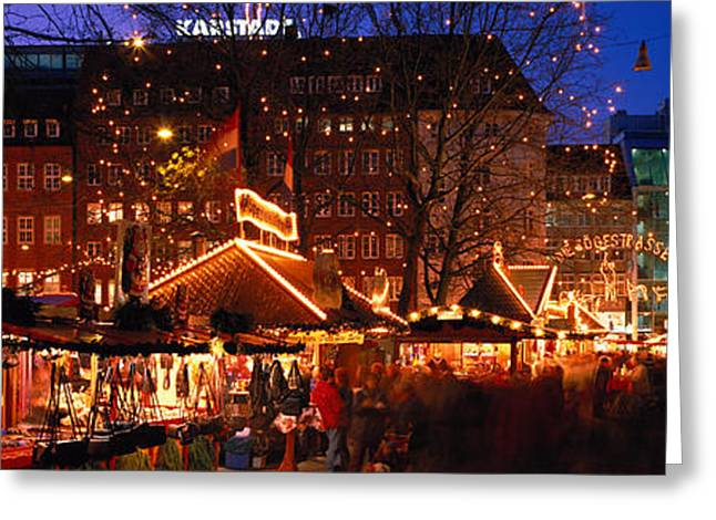 Open Market Greeting Cards - Bremen, Germany Greeting Card by Panoramic Images