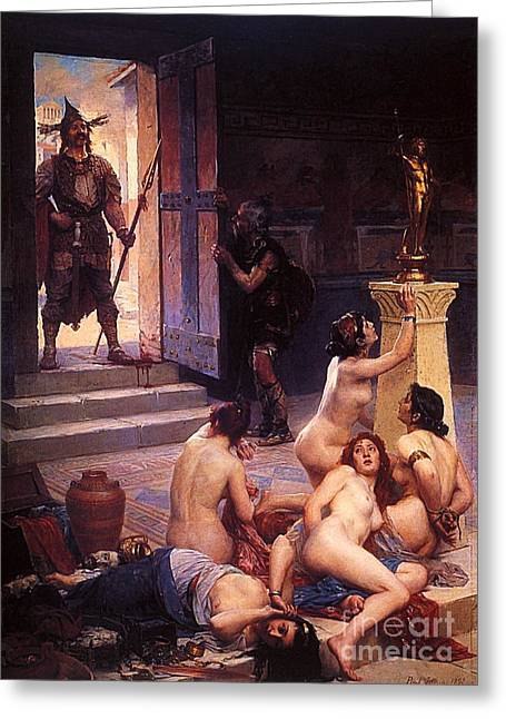 Gallic Greeting Cards - Brennus Greeting Card by Pg Reproductions